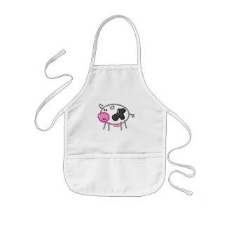 Spaß-Kuh auf Weiß Kinderschürze