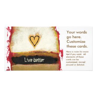 Spaß-Kunst-Herzmalerei fertigen Ihre Selbst Bilderkarten