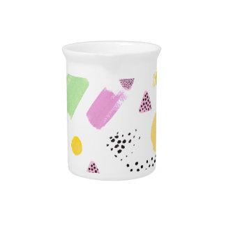Spaß-künstlerisches Farben-Schlag-Muster Getränke Pitcher