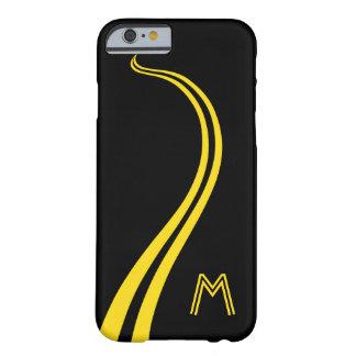 Spaß, kurvend, Doppelt-Gelbe Linie Straße Barely There iPhone 6 Hülle