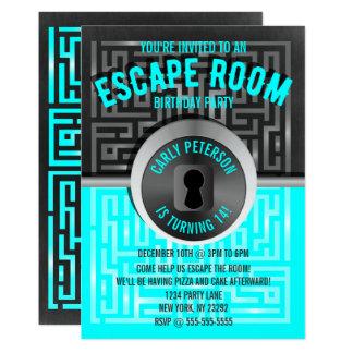 Spaß-Labyrinth-Entweichen-Raum-Party Einladungen