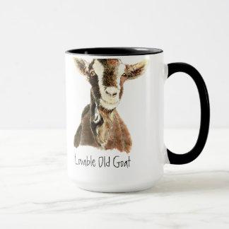 Spaß-liebenswürdige alte Ziege, Tier, Tasse