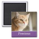 Spaß-lila personalisierter Haustier-Foto-Magnet Kühlschrankmagnet