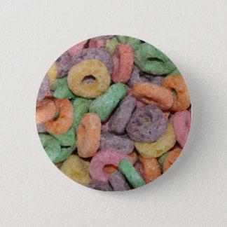 Spaß-lustiges Getreide-Nahrungsmittelmuster Runder Button 5,7 Cm