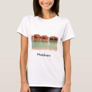 Spaß-Malediven-Insel-Strand-Bungalow-coole T-Shirt