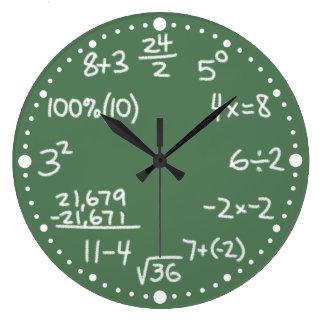 Spaß-mathematische Gleichungs-kundenspezifische Große Wanduhr