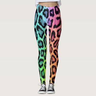 Spaß-mehrfarbiger Leopard-Druck Leggings