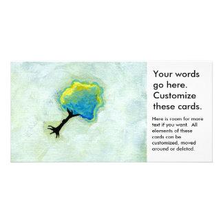 Spaß-Minimalist-moderne Kunst des Fliegenbaums Foto Karten Vorlage