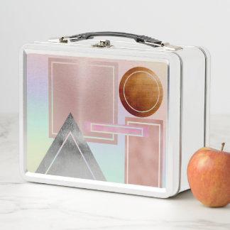 Spaß mit den Formen, metallisch, Gold, Rosengold, Metall Lunch Box