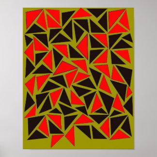 Spaß mit Dreiecken Poster
