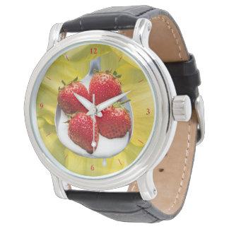 Spaß mit Gelb Armbanduhr