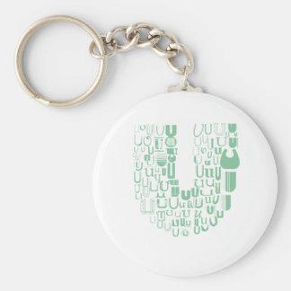 Spaß mit Schriftart U Schlüsselanhänger