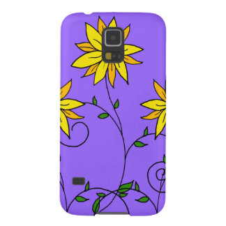 Spaß-nette gelbe Blumen-Gekritzel-Kunst Samsung S5 Hülle