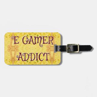 Spaß-neues Gelb-'Egamer-Süchtiger Gepäckanhänger