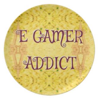 Spaß-neues Gelb-'Egamer-Süchtiger Teller