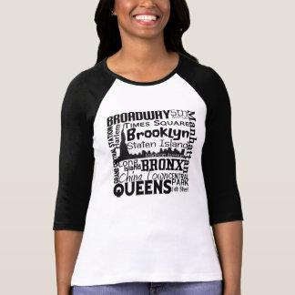 SPASS NYC Wort WOLKEN-inspiriertes grafisches T-Shirt