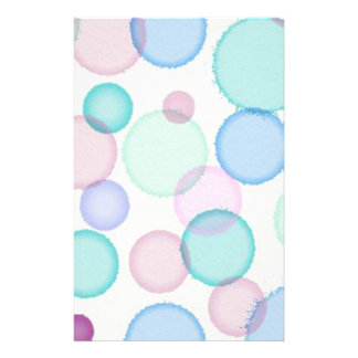 Spaß-PastellAquarell-Farben-Blasen-Muster Büropapiere
