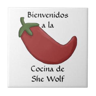 Spaß-personalisiertes spanisches Küchen-Namenswill Keramikfliesen
