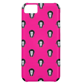 Spaß-Pinguine über Pink-Muster iPhone 5C Hülle