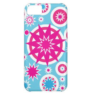 Spaß-Pink-und Blau-Schneeflocke-Stern-Entwurf Hüllen Für iPhone 5C