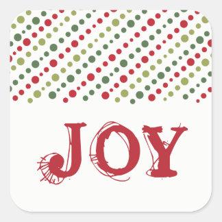 Spaß Polk Punkt-Weihnachtsaufkleber Quadratischer Aufkleber