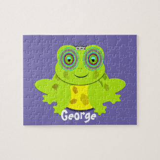 Spaß-Prinz Frog Themed Personalized Foto Puzzles