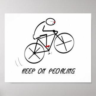 """Spaß-Radfahrer-Entwurf mit """"behalten auf Poster"""