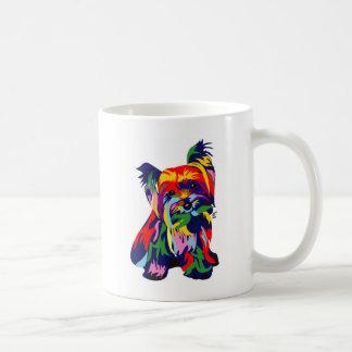 Spaß-Regenbogen Yorkie Kaffeetasse