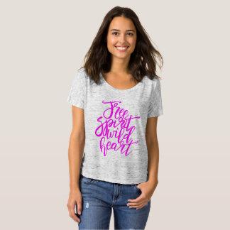 Spaß-rosa freier Geist-wilder Herz-T - Shirt
