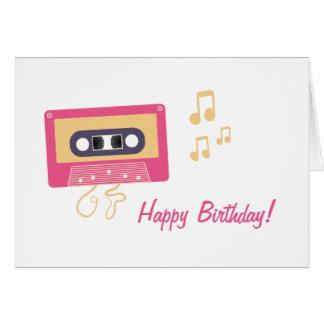 Spaß-rosa Kassetten-Geburtstag Grußkarte