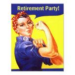 Spaß Rosie die Nieteneinschläger-Ruhestands-Party Individuelle Einladungskarte