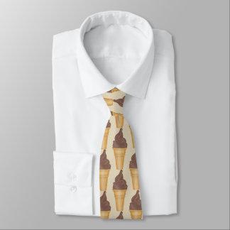 Spaß-SchokoladenEiscremegeschäft deckte Krawatte Personalisierte Krawatte