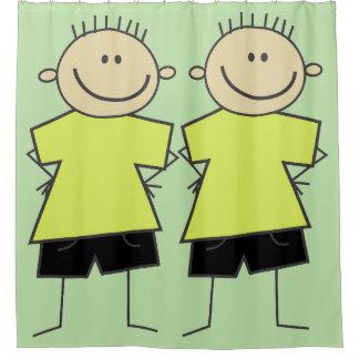 Spaß-smiley-Jungen-Strichmännchen-Duschvorhang Duschvorhang
