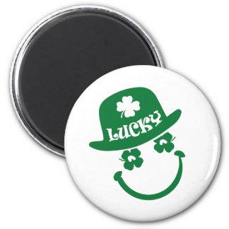 Spaß-Smiley-St Patrick Tagesgeschenk-Magneten Runder Magnet 5,1 Cm