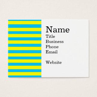 Spaß-Sommer-helle gelbe und aquamarine blaue Visitenkarte