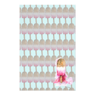 Spaß, Sommer-Schokolade und ErdbeerPopsicle Briefpapier