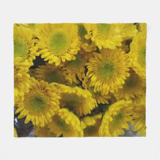 Spaß-sonnige gelbe Blumen-Bild-Fleece-Decke Fleecedecke