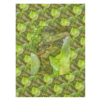 Spaß-spielerischer Frosch Tischdecke
