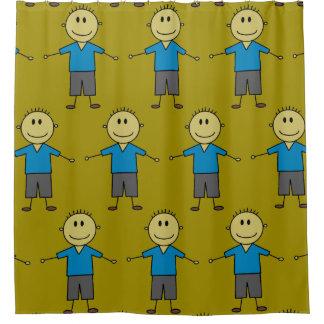 Spaß-Stock-Junge stellt Muster dar Duschvorhang