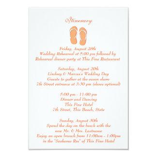 Spaß-Strand drehen Reinfälle orange Wedding Individuelle Einladungen