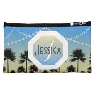 Spaß-Strand-personalisiertes Monogramm-mittlere Kosmetiktasche