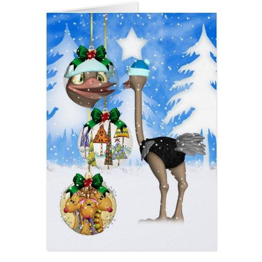 spa strau weihnachtskarte frohe weihnachten karte zazzle. Black Bedroom Furniture Sets. Home Design Ideas