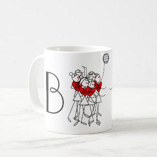 Spaß-Strichmännchenpersonalisierter Netball Kaffeetasse