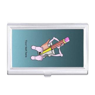 Spaß-surrealer Bleistiftspitzer Visitenkarten Etui