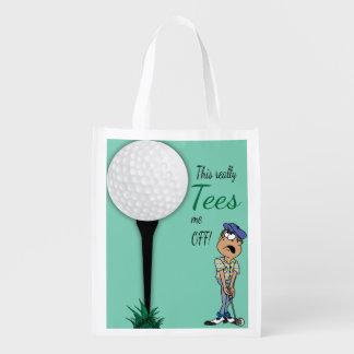 Spaß-T-Shirts ich weg vom Golfspieler Wiederverwendbare Einkaufstasche