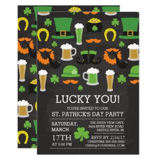 Spaß-Tafel-St Patrick Tagesabendessen-Party Karte