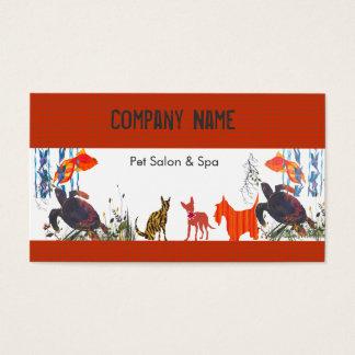 Spaß-Tier-Haustier-Sorgfalt Visitenkarte