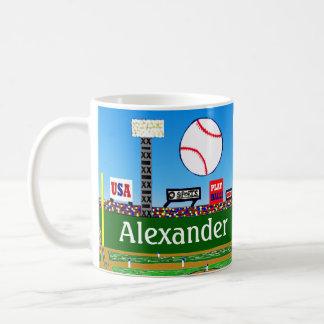 Spaß-trägt personalisierter Baseball-Tassen-Junge Tasse