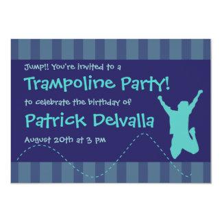 Spaß-Trampoline-Geburtstags-Party Einladungen -