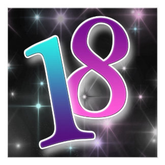 Spaß u bunte 18 Geburtstags-Party Einladung